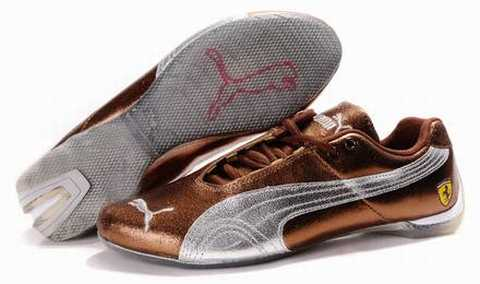 Chaussure Puma Cuir Marron