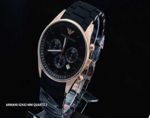 montre emporio armani meccanico ar bracelet en cuir noir pas cher